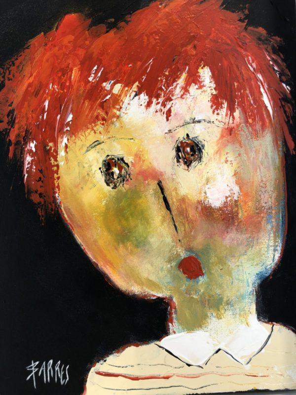 fille cheveux rouges 30x40